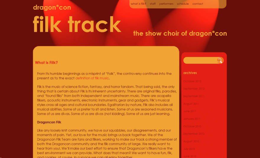 The Filk Track at Dragon*con